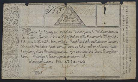 1 riksdaler kurant 1794, ISLAND Kv 2
