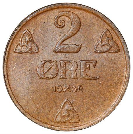 2 Øre 1936 Kv 0