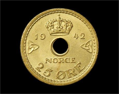 25 Øre 1942 London Kv 0