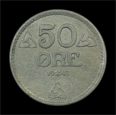 50 Øre 1943 Kv 0