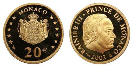 Monaco 20 Euro 2002 Proof