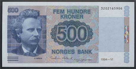 500 Kroner 1994 Kv 0
