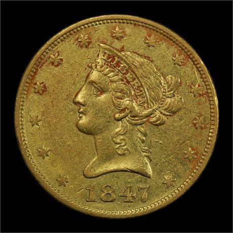 USA 10 Dollar 1847 Kv 1+