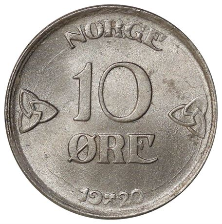 10 Øre 1920 Kv 0