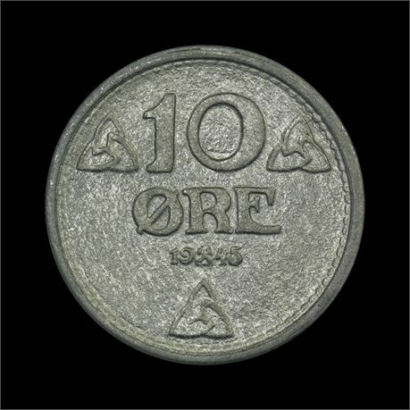 10 Øre 1945 Kv 0