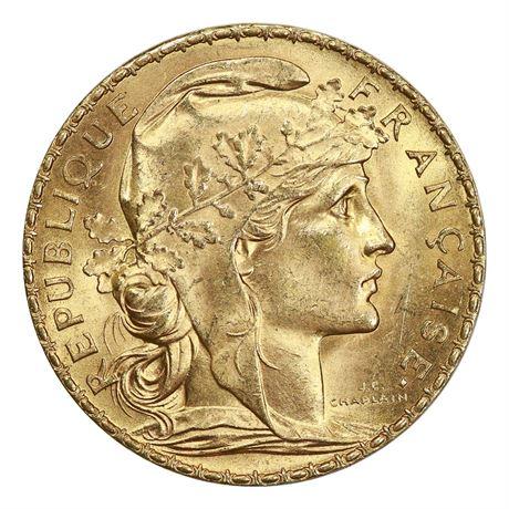 Frankrike 20 Francs 1909 Kv 0/01