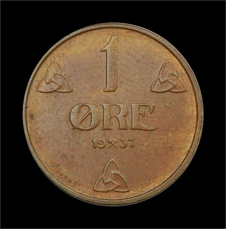 1 Øre 1937 Kv 0