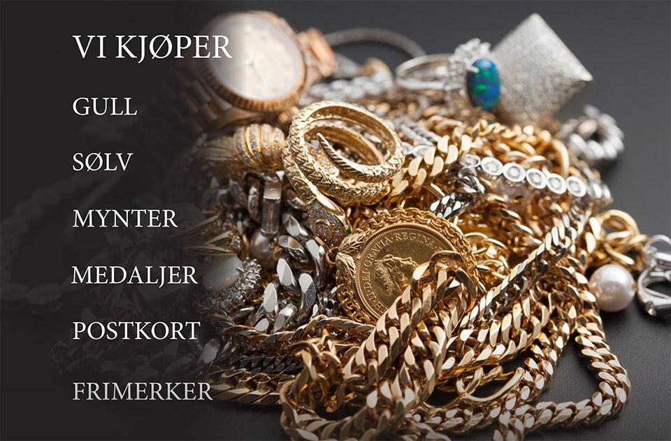Vi kjøper: Gull,Sølv,Mynter,Medaljer,Postkort,Frimerker
