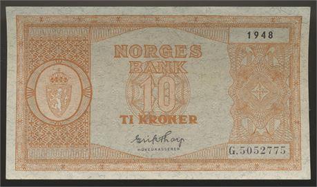 10 Kroner 1948 G Kv 01