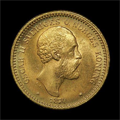 Sverige 10 Kronor 1874 Kv 0/01