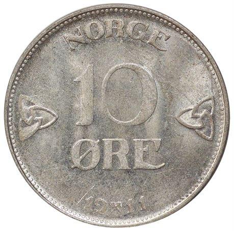 10 Øre 1911 Kv 0/01