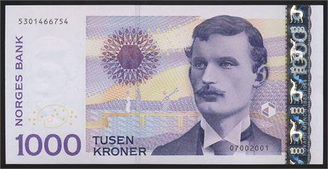 1000 Kroner 2001 Kv 0