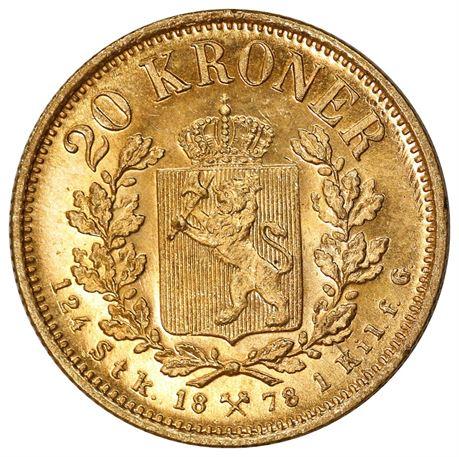 20 Kroner 1878 Kv 0/01