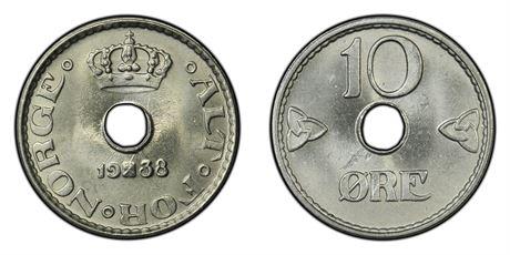 10 Øre 1938 Kv 0
