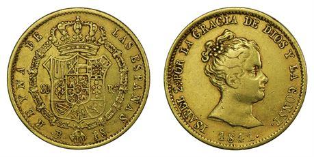 Spania 80 Reales 1841 Kv 1+
