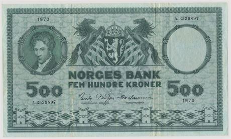 500 Kroner 1970 A3539897 Kv 1