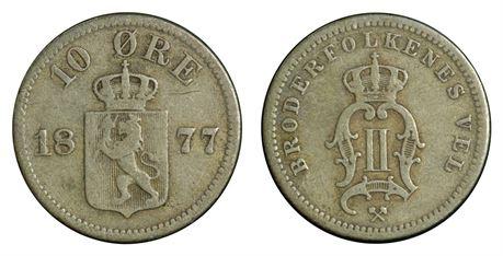 10 Øre 1877 Kv 1