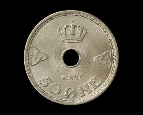 50 Øre 1948 Kv 0