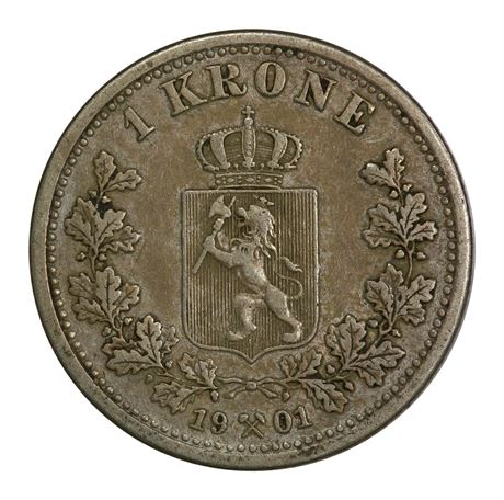 1 Krone 1901 Kv 1+