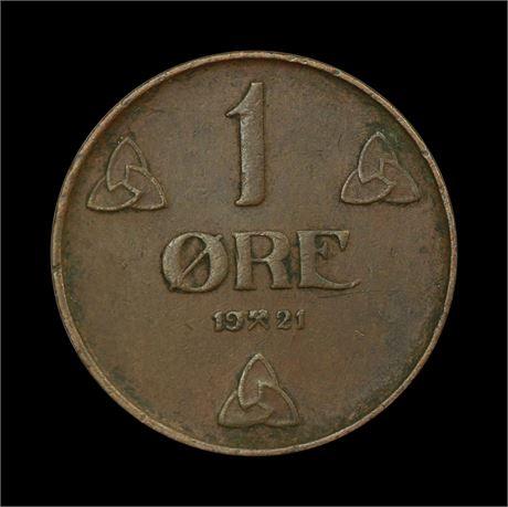 1 Øre 1921 K Kv 1+