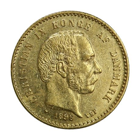 Danmark 10 Kroner 1898 Kv 1+/01
