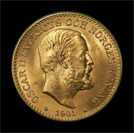 Sverige 10 Kronor 1901 Kv 0/01
