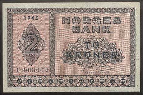 2 Kroner 1945 E Kv 1+