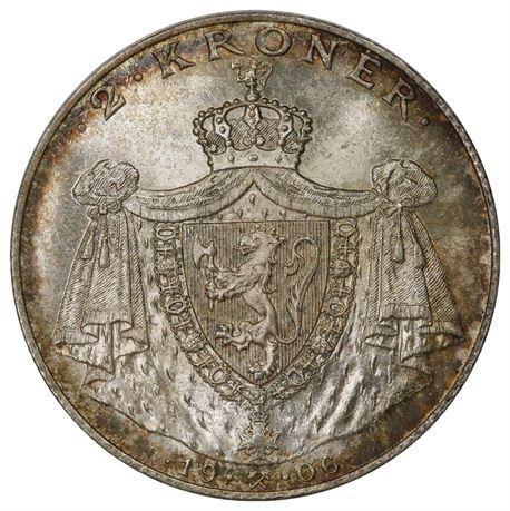 2 Kroner 1906 Kv 0, PCGS MS66