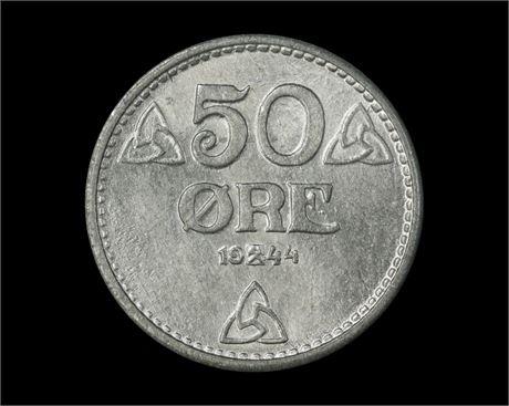 50 Øre 1944 Kv 0, vakker