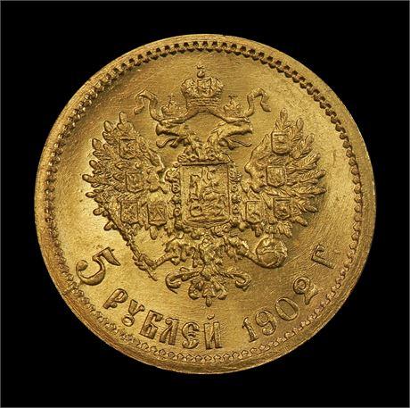 Russland 5 Roubles 1902 Kv 0