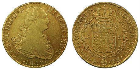 Mexico 8 Escudos 1807/6 Mo TH Kv 1+