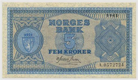 5 Kroner 1945 A0572724 Kv 0/01