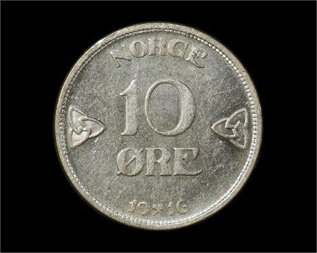 10 Øre 1916 Kv 0/01