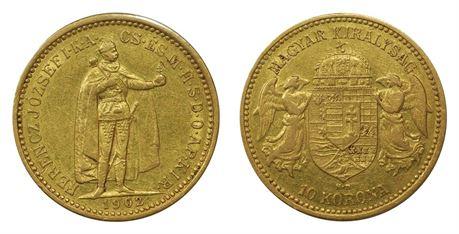 Ungarn 10 Corona 1892 Kv 1+