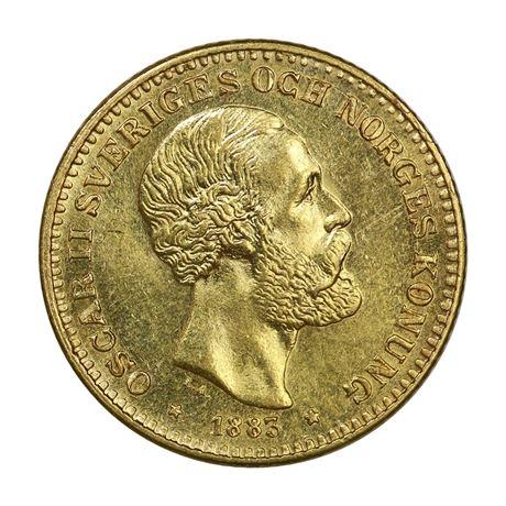 Sverige 10 Kronor 1883 Kv 0/01