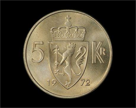 5 Kroner 1972 Kv 0