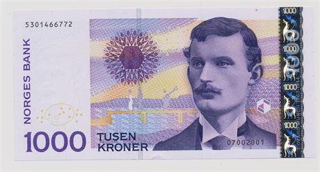 1000 Kroner 2001 4301466772 Kv 0