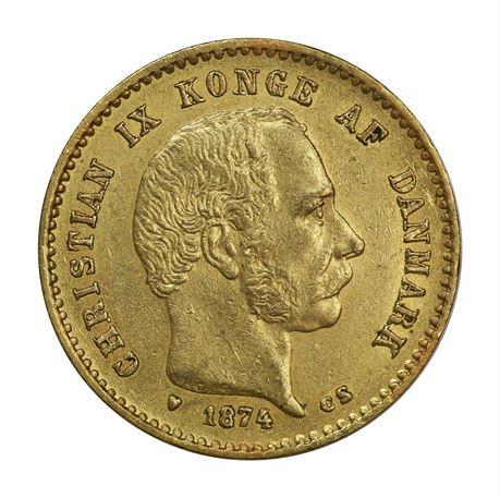 Danmark 10 Kroner 1874 Kv 1+/01