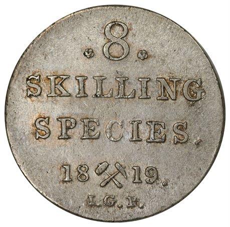 8 Skilling 1819 Kv 01