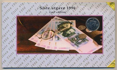 50 Kroner 1996 Siste utgave med svart litra Kv 0