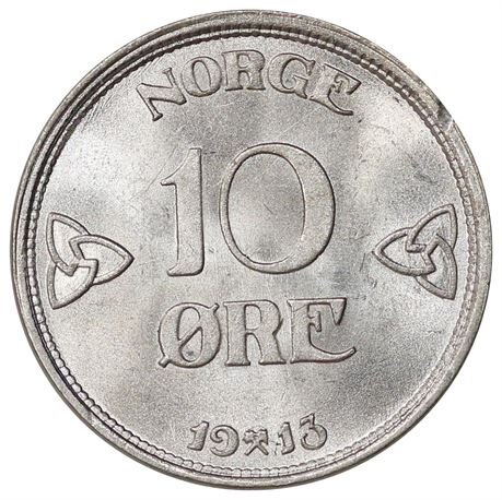 10 Øre 1913 Kv 0