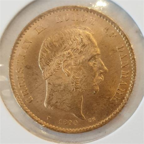 Svensk eller Dansk 10 krone gull tilfeldig type.