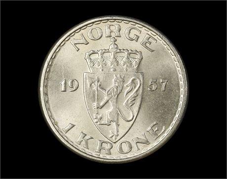 1 Krone 1957 Kv 0
