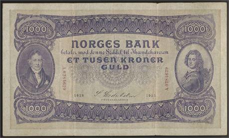 1000 Kroner 1923 A Kv 1