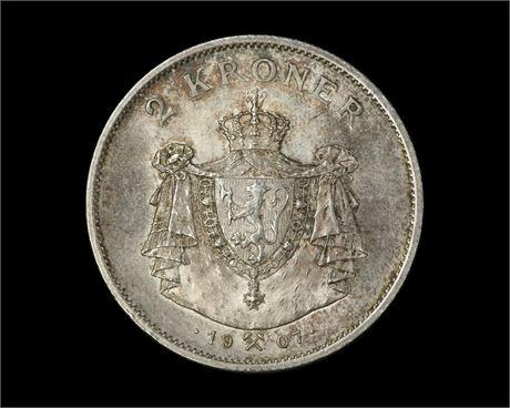 2 Kroner 1907 Kv 0/01