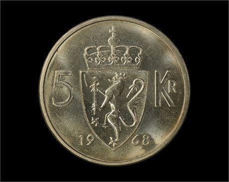 5 Kroner 1968 Kv 0