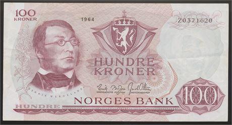 100 Kroner 1964 Z 0-million Kv 1/1+