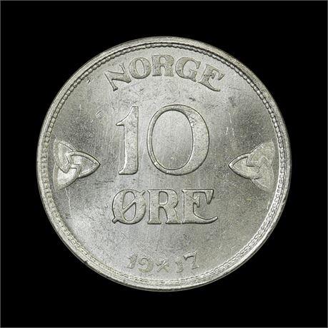 10 Øre 1917 Kv 0