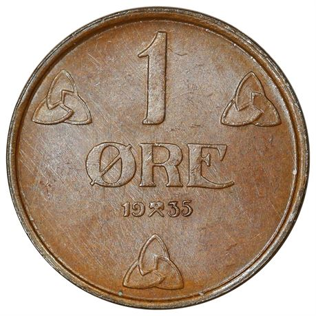 1 Øre 1935 Kv 0