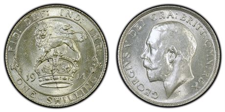 England Shilling 1914 Kv 0